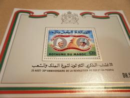 Miniature Sheet 1983 Anniversary Of The Revolution - Morocco (1956-...)