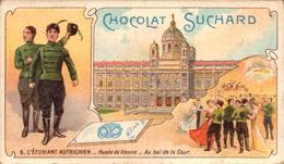 4 Chromos - Chocolat Suchard Velma - Etudiant - Autrichien Américain Francais Suédois  - Bill-892 - R/V - Suchard