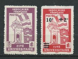 INDOCHINE 1943/44 .  N°s 279 Et 280 . Neufs (*) Sans Gomme . - Neufs
