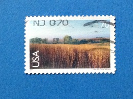 2001 STATI UNITI USA Nine Mile Prairie Nebraska 70 C FRANCOBOLLO USATO STAMP USED - Stati Uniti