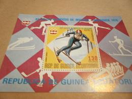 Miniature Sheet 1976 Winter Olympics - Equatorial Guinea