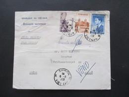 Vietnam 1959 Republique Du Viet-Nam Auslandsbrief Nach Malmö Schweden Und Weitergeleitet! Viele Stempel Und Vermerke!! - Vietnam