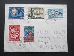 Vietnam / Süd Vietnam 1965 Auslandsbrief Nach Finnland! 5 Marken Und Mit Inhalt!! Saigon - Vietnam