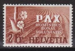 SUISSE 1945: De La Série 'PAX'  Le ZNr 271, Neuf * - Schweiz
