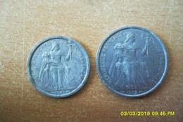 """2 Francs Et 5 Francs """"Indochine"""" 1949 Et 1952 En TB+ - Colonie"""