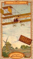 1 Chromos - Chocolat Suchard Velma - Aviation - Sommer Sur Biplan Farman  - Bill-895 - R/V - Suchard