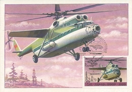Postcard RA010471 - Helicopter (Chopper) Soviet Union SSSR USSR CCCP MI-6 MAXIMUM CARTE - Elicotteri