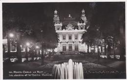 CARTOLINA - MONACO - MONTE - CARLO -LA NUIT - LES JARDINS ET LE CASINO ILLUMINè - Monte-Carlo