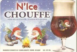 Sous-bock - N'Ice Chouffe - Bière Belge Brune D'hiver - Brasserie D'Achouffe - Sous-bocks