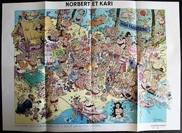 BD POSTER- NORBERT ET KARI - Concours De Beauté Sur Un Atoooll De Corail - Affiches & Offsets