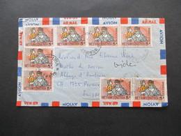 Vietnam / Süd Vietnam 1972 Auslandsbrief In Die Schweiz MeF Nr. 483 Mit 8 Marken!! Air Mail / Luftpost - Vietnam