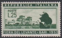 Italy Republic S 695 1952 Bari Fair, Mint Never Hinged - 1946-60: Mint/hinged