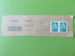 Timbre France YT 1601 AA - Marianne L'Engagée - LV Non Dentelé - 2 Timbres Sur Fragment - Datamatrix - 2018-... Marianne L'Engagée