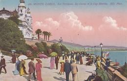 CARTOLINA - MONACO - MONTE - CARLO - LES TERRASSES , LE TERRASSES LE CASINO ETLE CAP MARTIN - Monte-Carlo