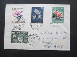 Vietnam / Süd Vietnam 1965 Auslandsbrief Nach Finnland! 4 Marken Saigon - Vietnam