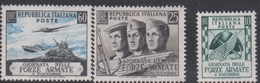 Italy Republic S 699-701 1952 Armed Forces Day, Mint Never Hinged - 1946-60: Mint/hinged