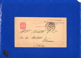 ##(DAN197)-Postal History-Portugal 1887-20 Reis Post Card  From Porto  To Firenze-Italy - Lettere