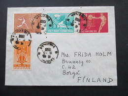 Vietnam / Süd Vietnam 1966 Auslandsbrief Nach Finnland! Mit 4 Marken Saigon - Vietnam