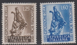 Italy Republic S 721-722 1953 Agriculture Exposition, Mint Never Hinged - 1946-60: Mint/hinged