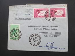 Vietnam / Süd Vietnam 1965 Auslandsbrief Firmenbrief Nach Schweden Air Mail / Luftpost Gommage Tropical - Vietnam