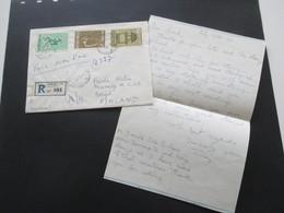 Vietnam / Süd Vietnam 1966 Voie Maritime Auslandsbrief Nach Borga Finnland. Einschreiben Saigon CTC - Vietnam