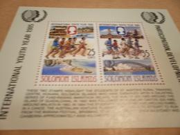 Miniature Sheet 1985 Youth Games - Solomon Islands (1978-...)