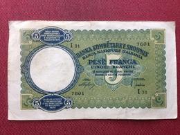 ALBANIE Billet De 5 Franga Très Bon état - Albania