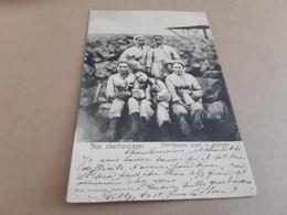 NOS CHARBONNAGES  Hiercheuses Avant La Descente Obl 1906 - Mines
