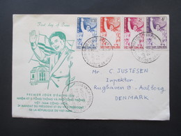 Vietnam / Süd Vietnam 1961 Auslandsbrief Nach Dänemark FDC Nr. 235 - 238 Mit SST Echt Gelaufen!! Ngo-dinh-Diem - Vietnam