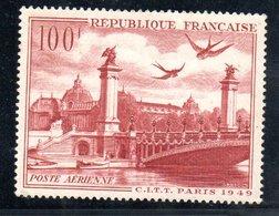 Poste Aérienne / N 28 / 100 Francs Rouge  / NEUF** / Côte 9 € - Airmail
