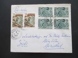 Kambodscha / Cambodge 1965 Auslandsbrief Nach Schweden Mit 6 Marken! Luftpost / Air Mail - Kambodscha