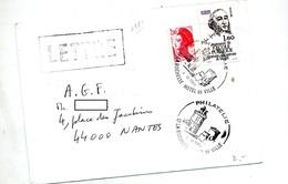 Lettre Cachet La Rochelle Philatelie - Poststempel (Briefe)