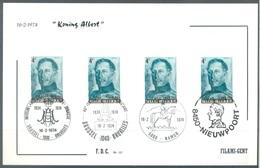 BELGIUM - 16.2.1974 - FDC - ALBERT I  MULTIPLE CANCELLATION - COB 1704 FILAMI - Lot 19629 - 1971-80