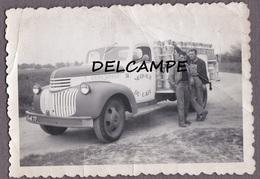 77 Seine Et Marne - Camion Laitier CHEVROLET - Camion 58 Service Du Lait - Coopérative Du Lait. Photo Originale 1947 - Trucks