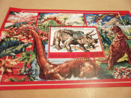 Miniature Sheet Guinea - 1987 - Prehistoric Animals - Guinea (1958-...)