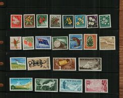 NEW ZEALAND - QEII - 1960 - 23 Stamps - MNH - Unused Stamps