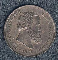 Brasilien, 10 Reis 1869, XF - Brasilien