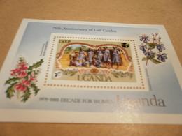 Miniature Sheet 1985 Uganda Girl Guides 75th Anniversary - Uganda (1962-...)