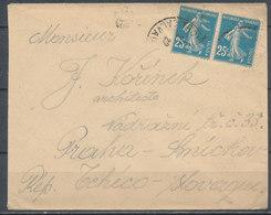 1922 TROUVILLE - PRAGUE (Tchecoslovaquie) - Marcophilie (Lettres)