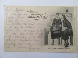 Carte Postale Précurseur - Personnages Célèbres - M. Et Mme Théodore Botrel - Précurseur Circulée En 1900 - Artistes