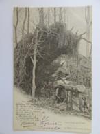 Artisanat - N°299 - Sabotière En Forêt - Carte Précurseur Animée, Circulée En 1901 - Craft