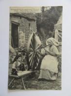 Folklore N°1433 - Filandière à St Julien - Carte Animée, Circulée En 1906 - Artisanat