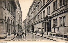SUISSE GE GENÈVE Hôtel De Ville Et Rue De L'Hôtel De Ville  .... Carte Peu Courante - GE Genève