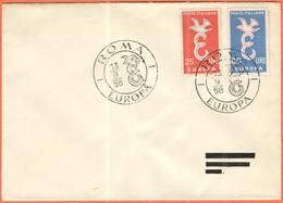 ITALIA - ITALY - ITALIE - 1958 - Europa Cept - Roma - FDC - Europa-CEPT