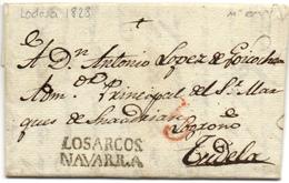 Lettre De LODOSA Cachet LOS ARCOS Ref Tison N°6 - Spanje