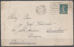1920 PARIS - PRAGUE (Tchecoslovaquie) - Postmark Collection (Covers)