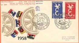 FRANCIA - France - 1958 - Europa Cept - FDC - Paris - Europa-CEPT