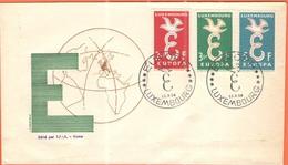 LUSSEMBURGO - LUXEMBOURG - 1958 - Europa Cept - FDC - Europa-CEPT
