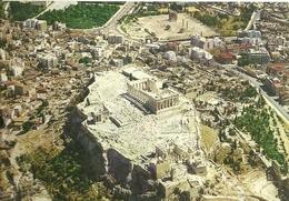 """4135 """"ATHENS:ACROPOLIS FROM THE AIR"""" CARTOLINA POSTALE ORIGINALE SPEDITA 1969 - Grecia"""