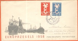 OLANDA - NEDERLAND - Paesi Bassi - 1958 - Europa Cept - 's-Gravenhage - FDC - Europa-CEPT